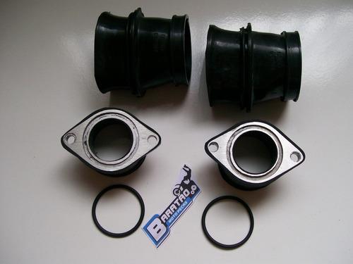 kit (6 peças) condutor e coletor de ar + anéis cb 400 450