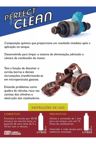 kit 6 perfect clean flex gasolina, etanol e gnv koube