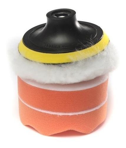 kit 6 piezas borlas / esponjas para pulir auto para taladro