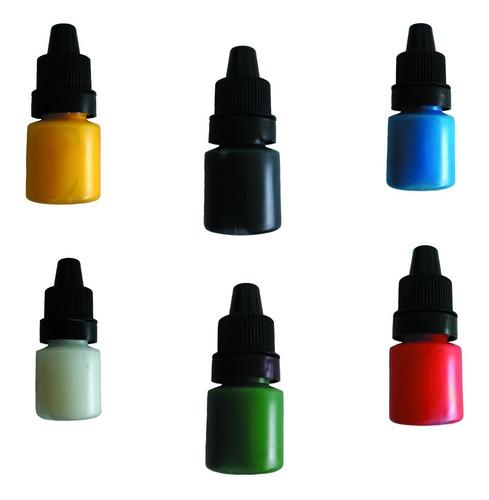 kit 6 pigmentos para tatuar 5ml tattoo & tatuaje colores