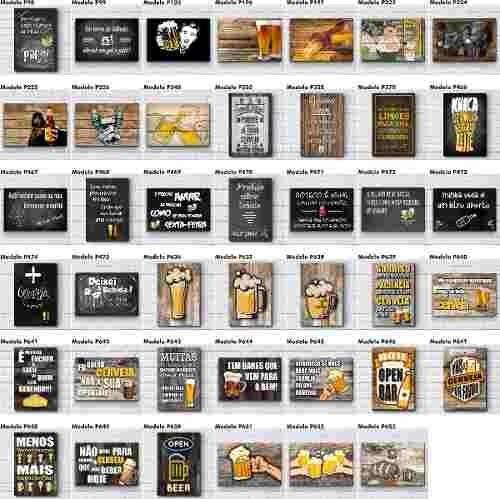 Kit 6 Placas Decorativas Frases Engraçadas De Boteco Bar