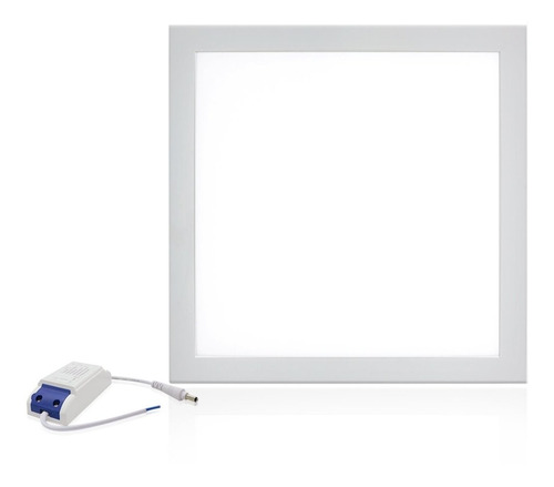 kit 6 plafon embutir painel led 60x60 50w quadrado frio