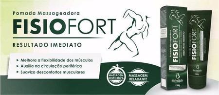 kit 6 pomada massageadora fisiofort bio instinto