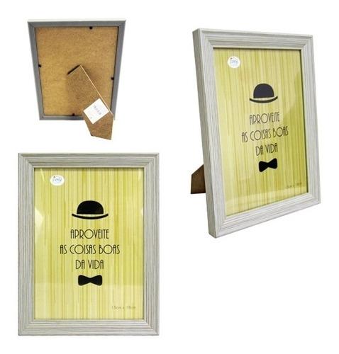 kit 6 porta retrato 13x18cm luxo com vidro foto moldura luxo