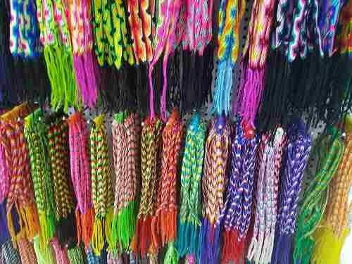 kit 6 pulseiras em tecido coloridas, lisas e times atacado