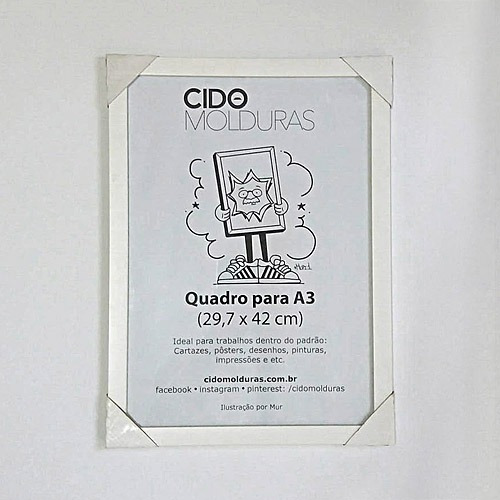 kit 6 quadros a3 moldura branca (29,7 x 42 cm) s/ vidro