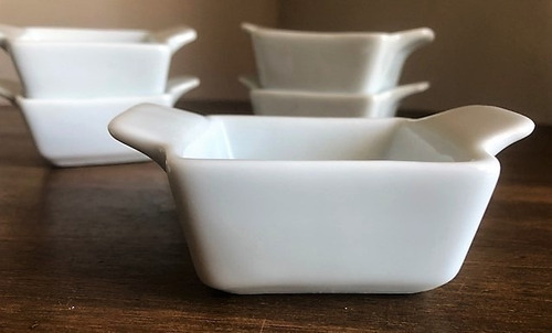 kit 6 ramekin de porcelana