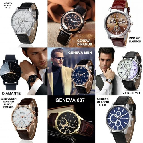 kit 6 relógio masculino para revenda barato atacado