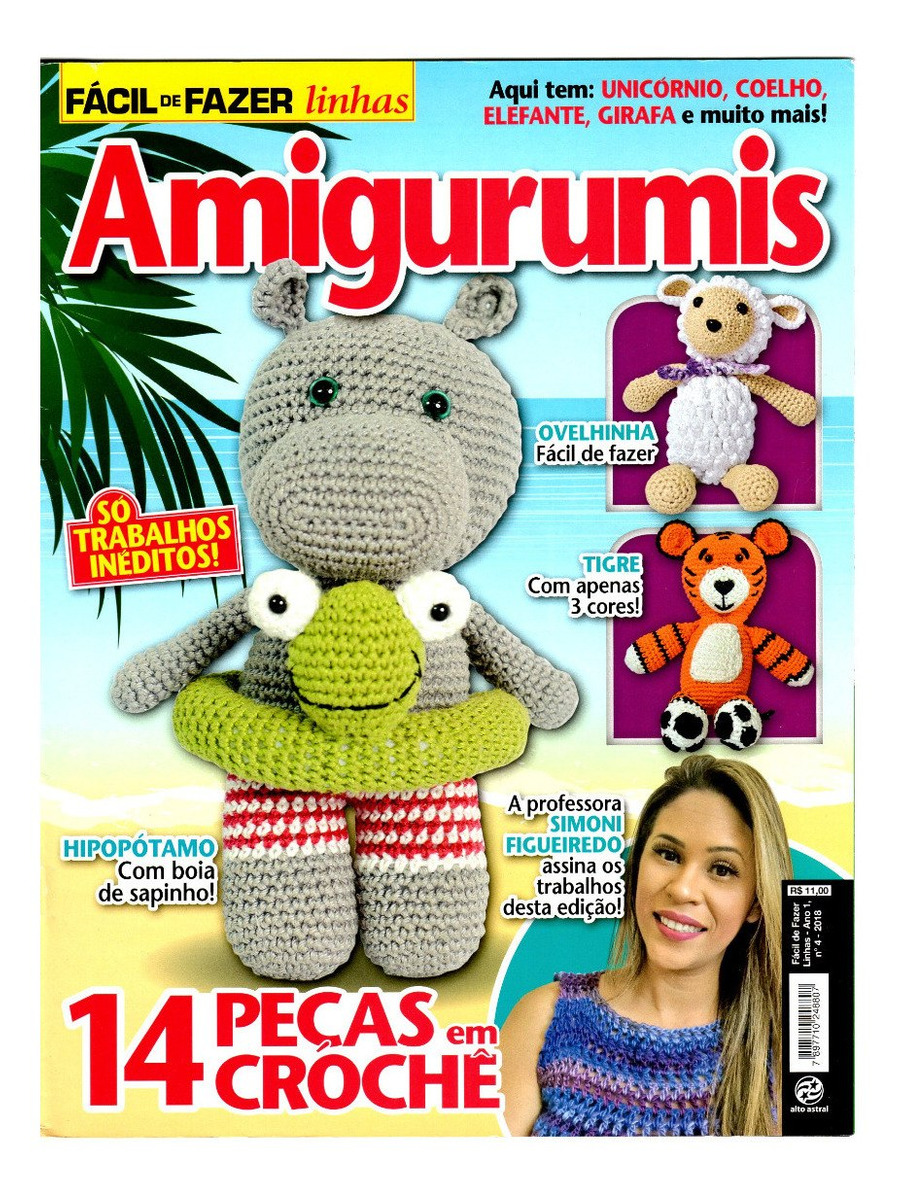 Elefante de Crochê Rosa | Elefante de crochê, Amigurumi de croche, Amigurumi  de animais de crochê | 1200x901