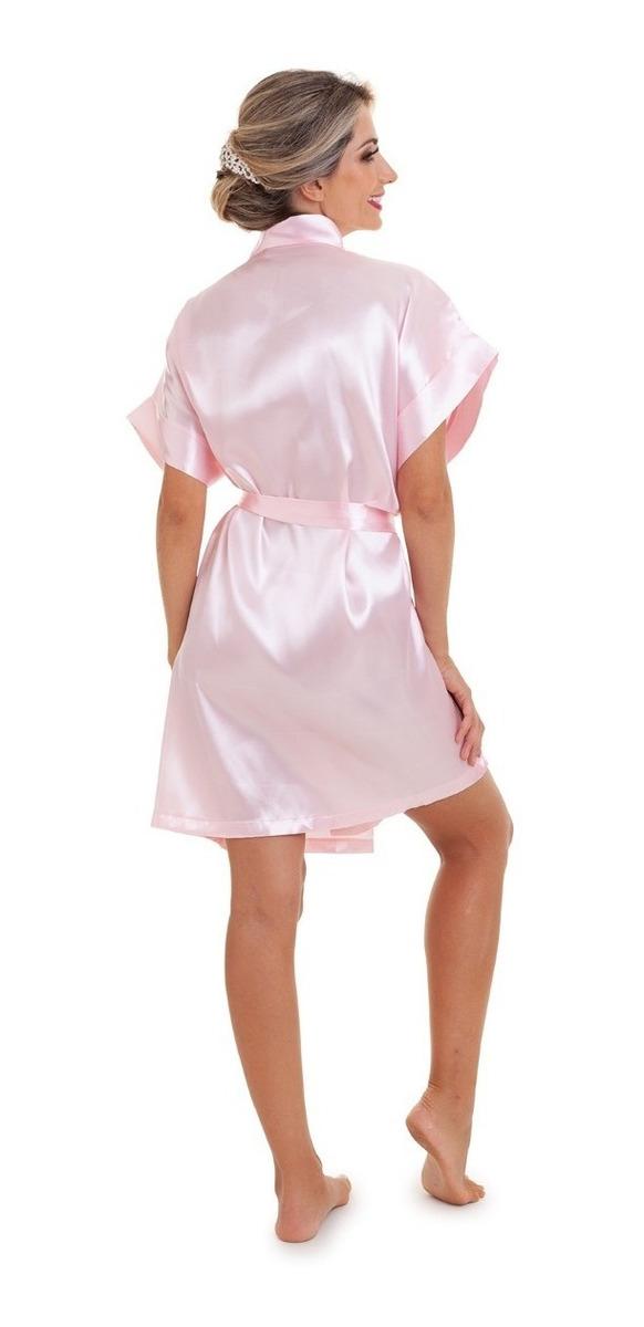 643186cb587020 Kit 6 Robes Noiva Madrinha Debutante Cetim(todos Com Coroa)