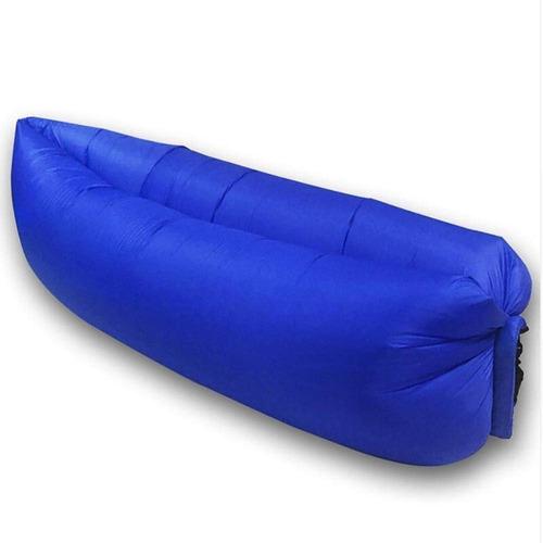 kit  6 saco de dormir inflável - puff - sofá - acampamento