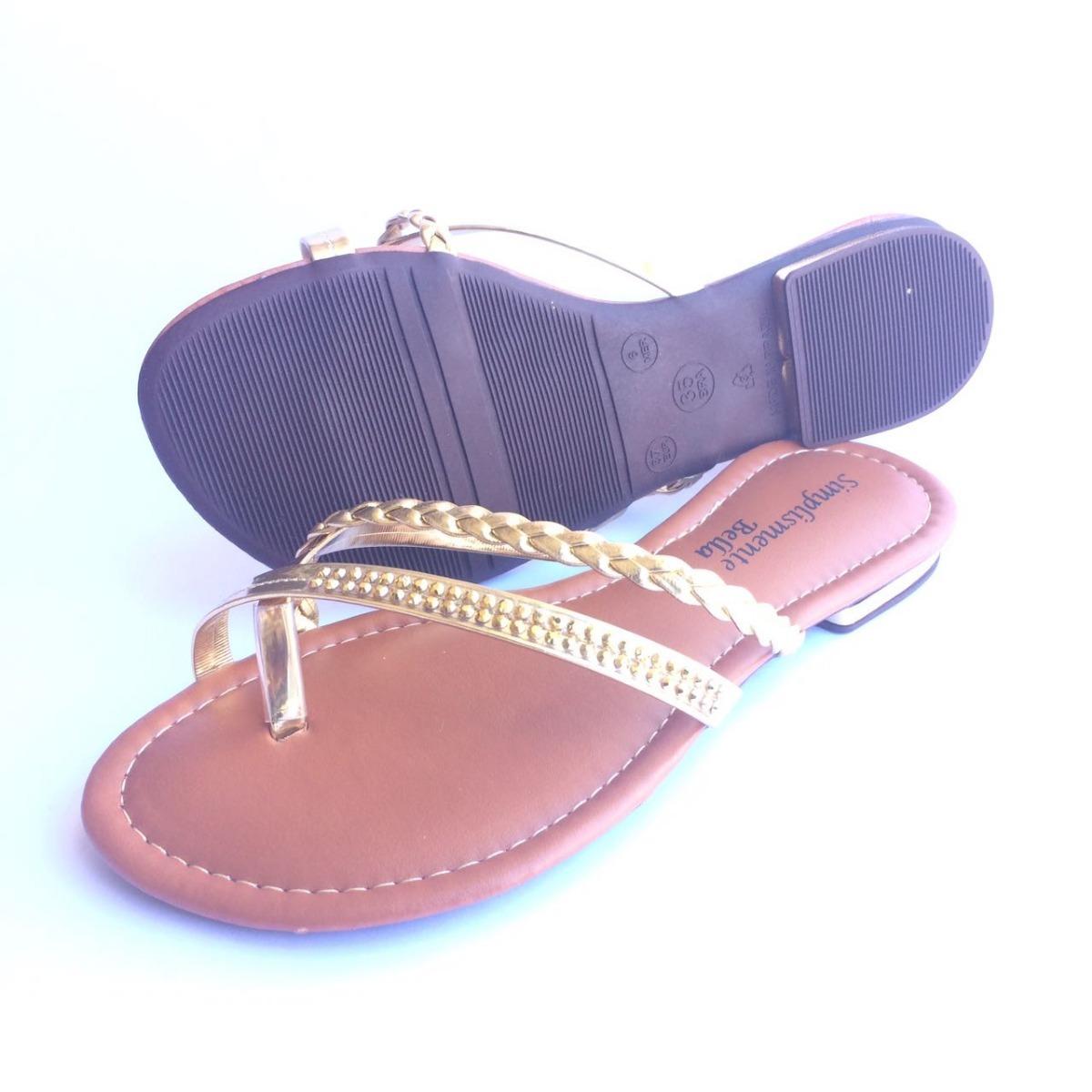 2367f4b58e kit 6 sandália feminina rasteira rasteirinha bella promoção. Carregando  zoom.