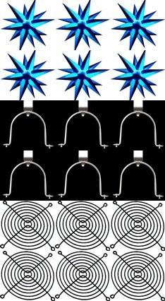 kit  6 sputnik estrela 3d grátis alça e tela,dj,luz negra,