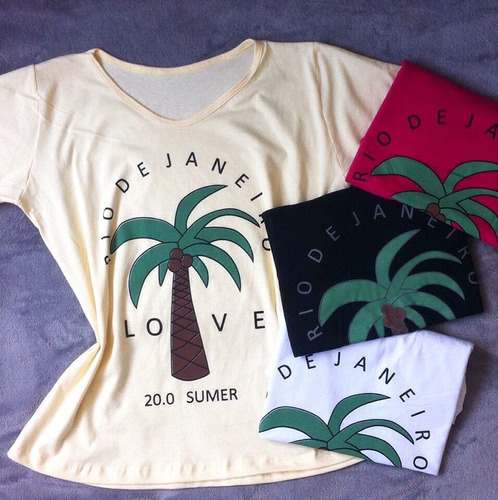 kit 6 t-shirts blusa roupa camisa feminina atacado revenda