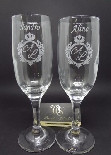 kit 6 taças personalizadas a laser ws brindes jateados