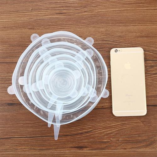 kit 6 tampas pote universal silicone - funciona mesmo!