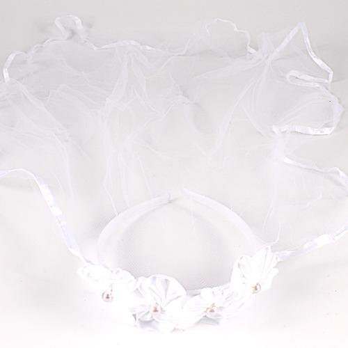 kit 6 tiara veu noiva branca fanatasia festa
