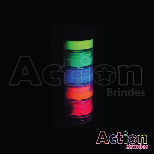 kit 6 tintas neon + 4 batom neon + 4 gel neon + brinde
