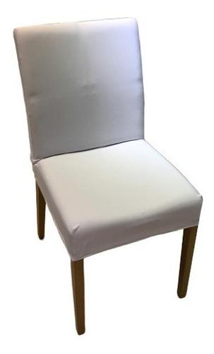 kit 6 unidades capa de cadeira branca - malha resistente