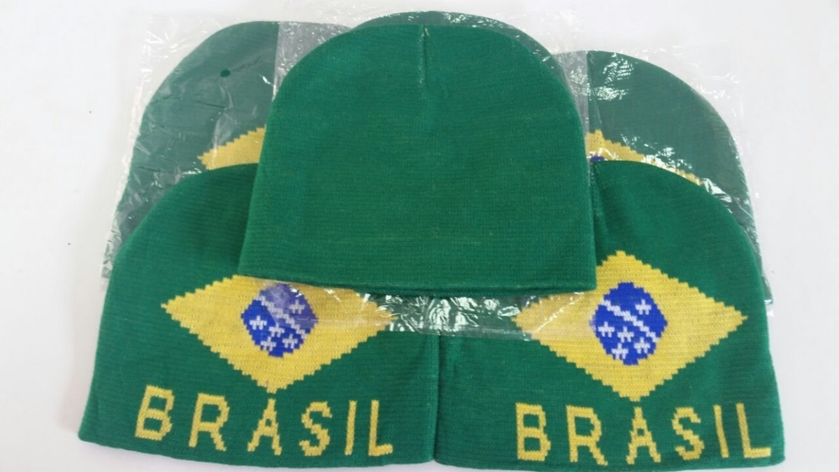 Kit 6 Unidades Touca Gorro Simples Brasil - R  49 9b2ecb797d7