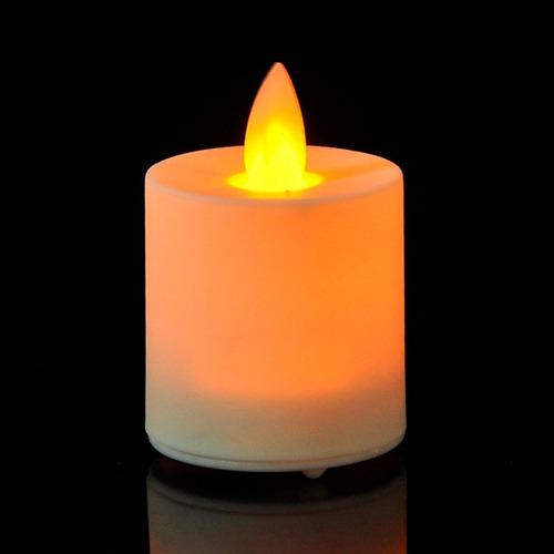 kit 6 velas led con pilas incluídas blanco cálido decoración