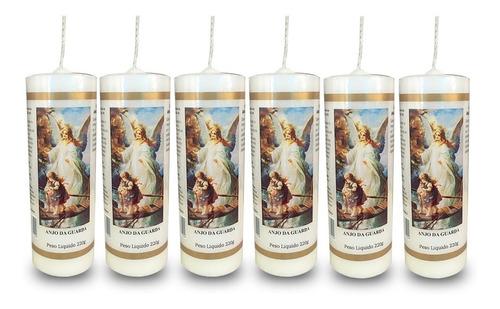 kit 6 velas votivas 7 sete dias anjo da guarda nv