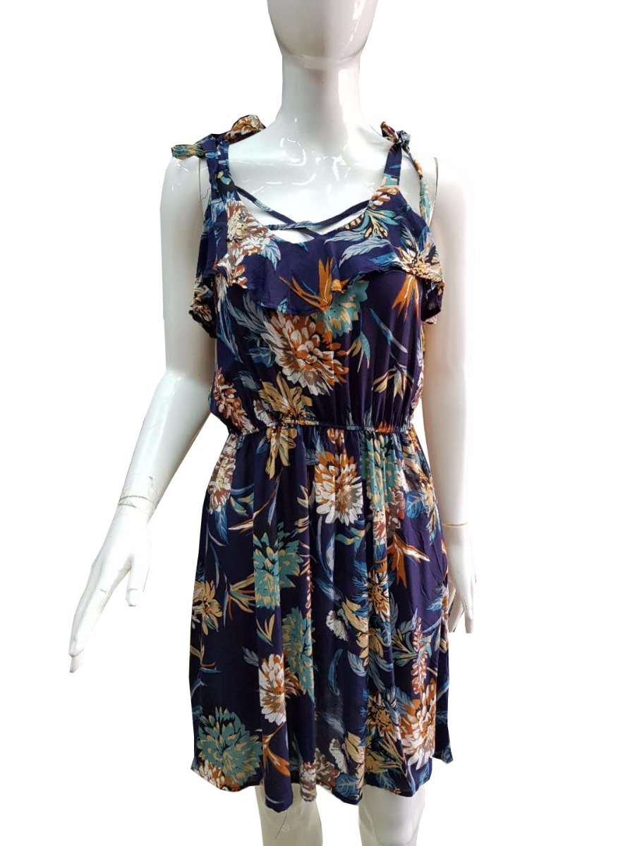 69e5f58d97 kit 6 vestido curto babado viscose floral de alcinha atacado. Carregando  zoom.