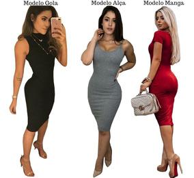 4c0d3016a272 Vestido Midi, De Algodão - Vestidos Femeninos Bordô com o Melhores Preços  no Mercado Livre Brasil