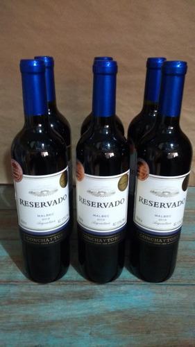 kit 6 vinho chileno reservado concha y toro chile  750ml