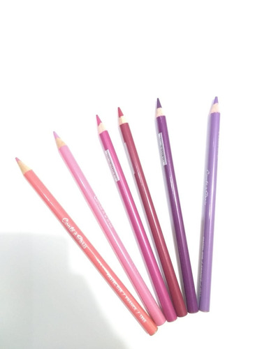 kit 6 x lápis pastel seco conté à paris tons de rosa rose