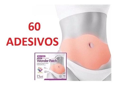 kit 60 adesivo emagrecedor barrica abdominal queima gordura