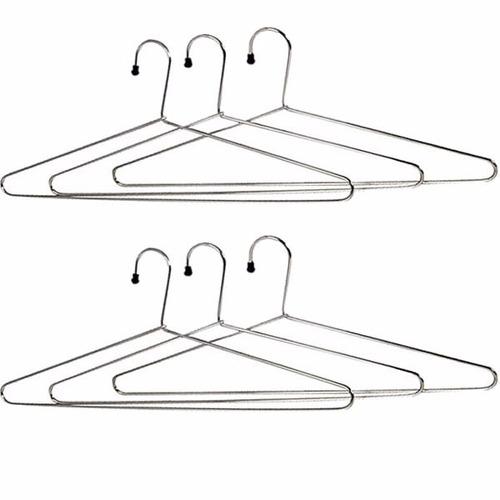 kit 60 cabides metal cromado p/ roupas armário arara closet