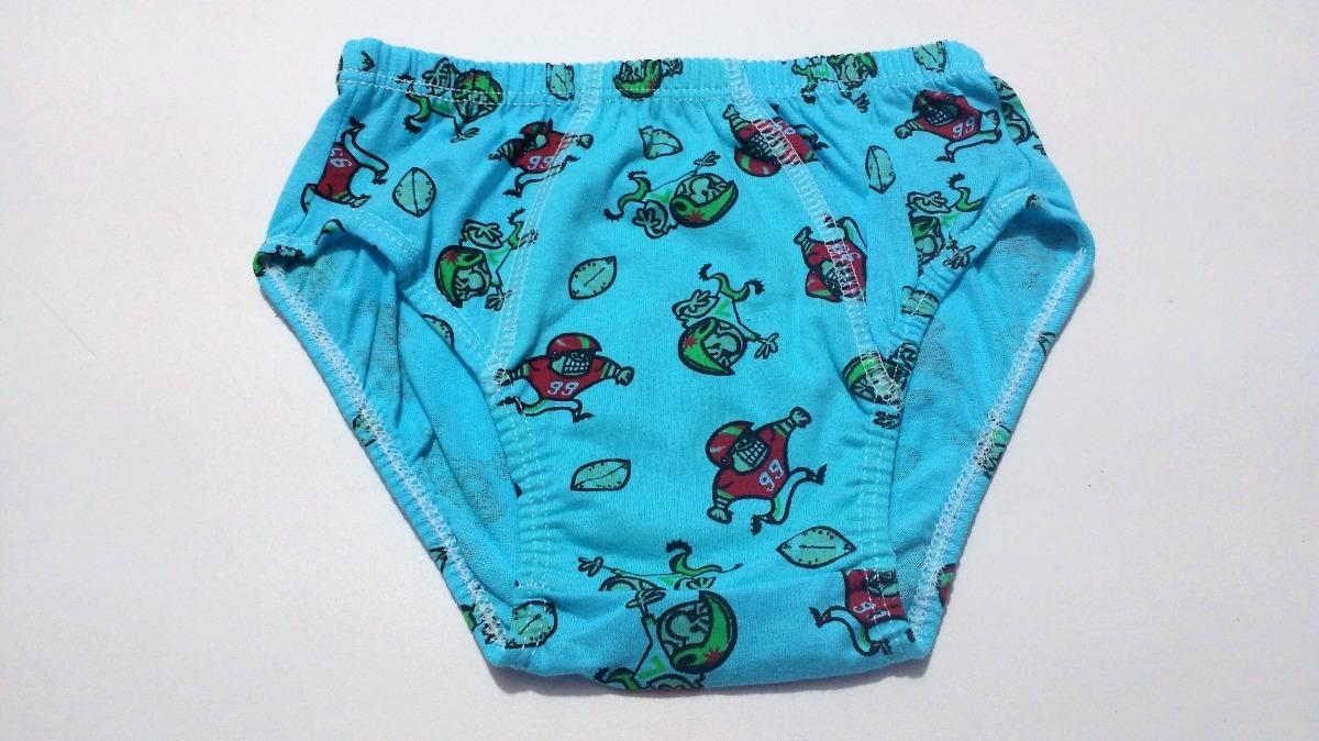 9116b95eb2 kit 60 cueca infantil rebatida 100% algodão estampada. Carregando zoom.
