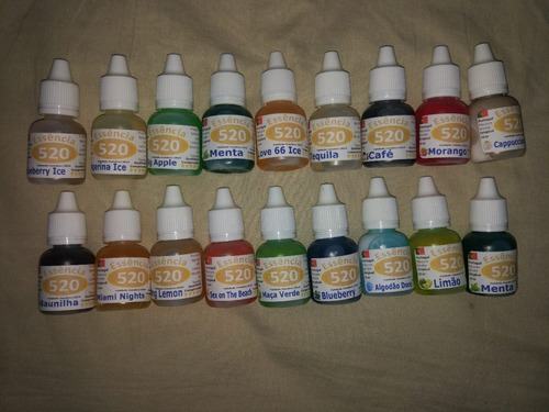 kit 60 essências liquida narguile caneta eletrônico sabores