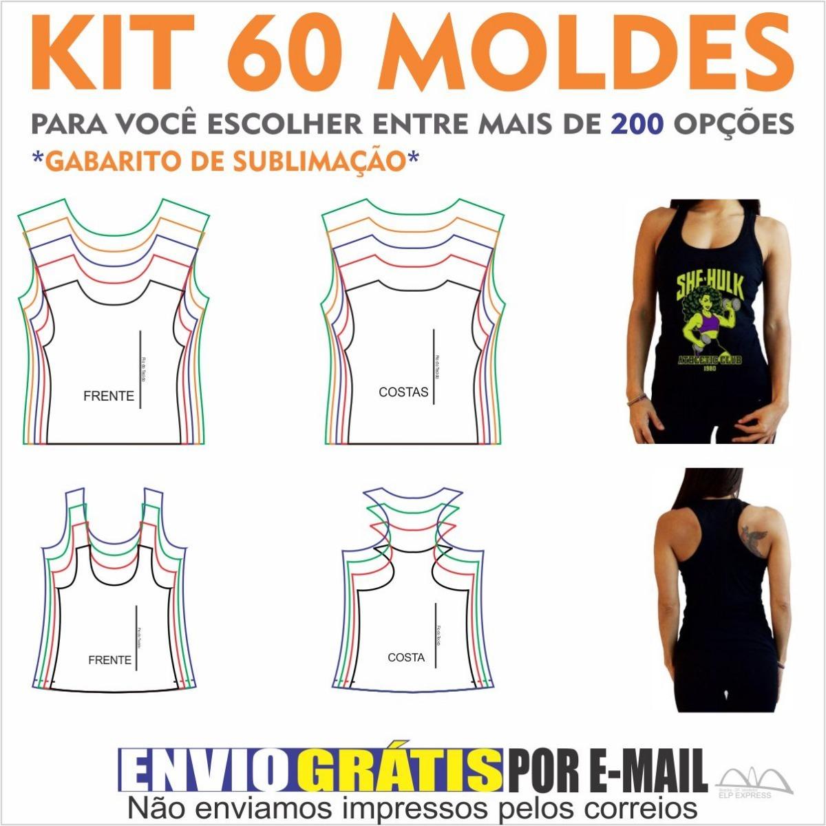 24e45b224 Kit 60 Moldes De Roupas A Sua Escolha. Camisas