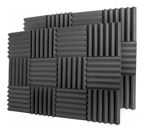 kit 60 paneles espuma acustica calidad peine grueso 5cm envio msi