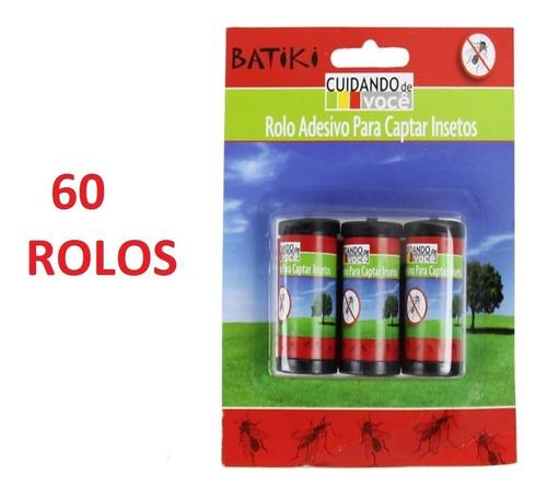 kit 60 rolos fita pega mosca - armadilha de cola p/ insetos