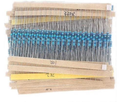 kit 600 resistores variados 1% 10r, 22r, 47r, 100r, 150r 65