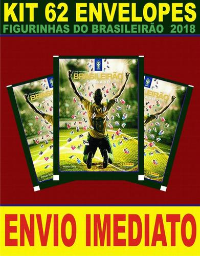 kit 62 envelopes figurinhas do brasileirão 2018 - panini