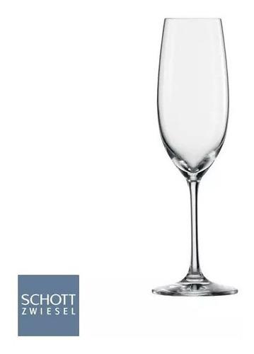 kit 6un taça cristal champagne prosseco 235ml schott zwiesel
