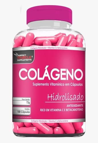 kit 6x colágeno hidrolisado c/ betacaroteno + vit c 600caps