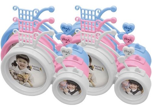 kit 6x porta retrato bicicleta infantil bebê decoração