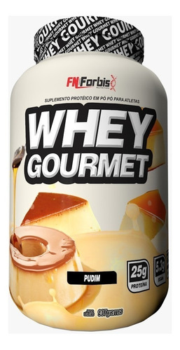 kit 6x whey gourmet 900g fn forbis (best) - frete gratis