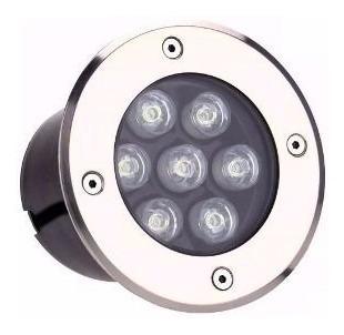 kit 7 balizador luminária led chão piso jardim 7w blindado