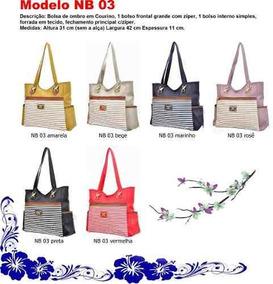 eb95cf9e5 Bolsa Vickaldany Couro Rosa Femininas - Bolsa Outras Marcas Marrom em Santo  André no Mercado Livre Brasil