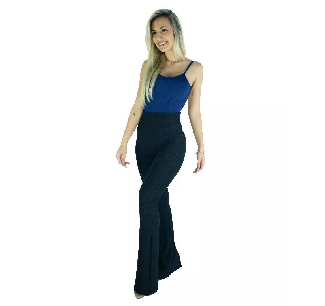 0d8e02064 kit 7 calça feminina flare pantalona cintura alta moda. Carregando zoom.