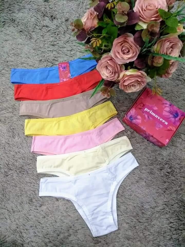 e4ac01a09 kit 7 calcinhas em algodão primavera diamantes lingerie. Carregando zoom.