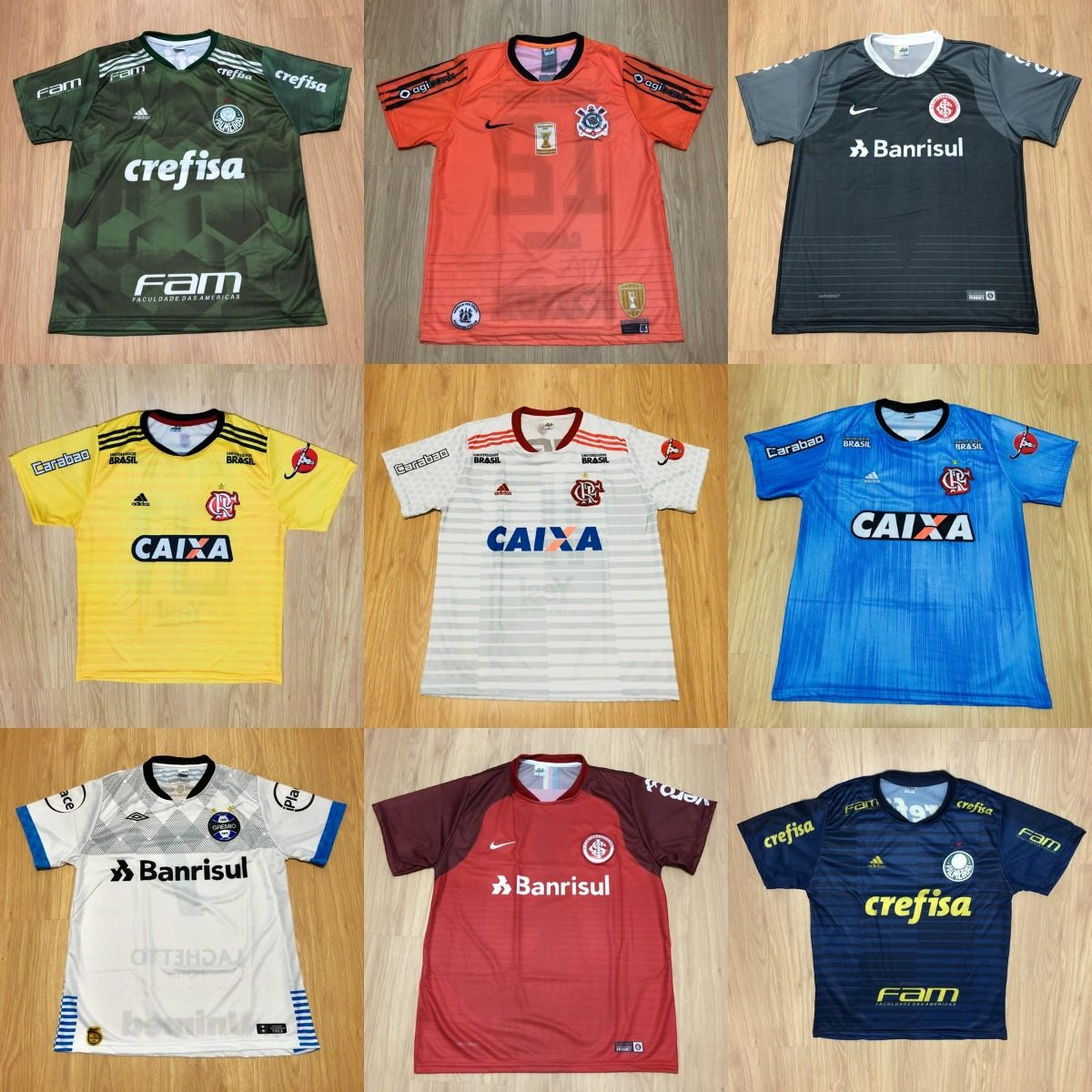 Kit 7 Camisas Futebol 100 Modelos Diferentes 2018 Atacado - R  147 ... 933328349f7bc