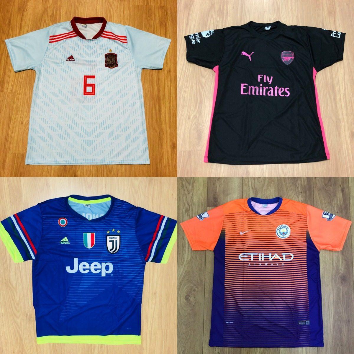 kit 7 camisetas de time atacado futebol 100 modelos 2018. Carregando zoom. 19f6d6edd0818