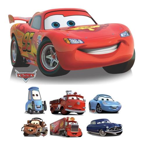 kit 7 carros pixar mcqueen totem display mdf 88cm